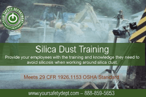 Respirable Silica Dust Training